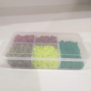 Kit de botões coração sortidos 5 cores