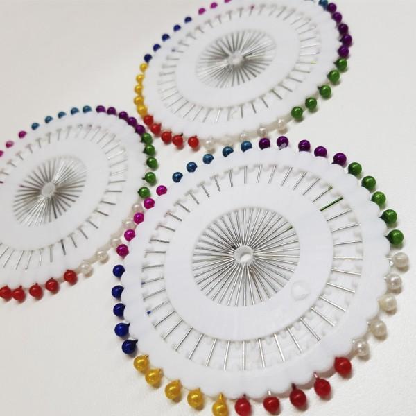 Alfinetes Coloridos Cabeça Bolinha 120 unidades de alfinetes
