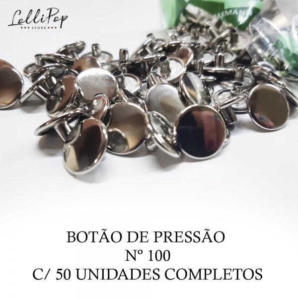 Botão de Pressão 100  Baxmann  c/50 unidades